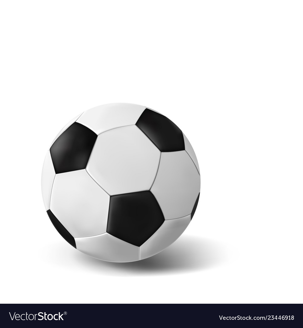 Isolated realistic soccer ball on white background