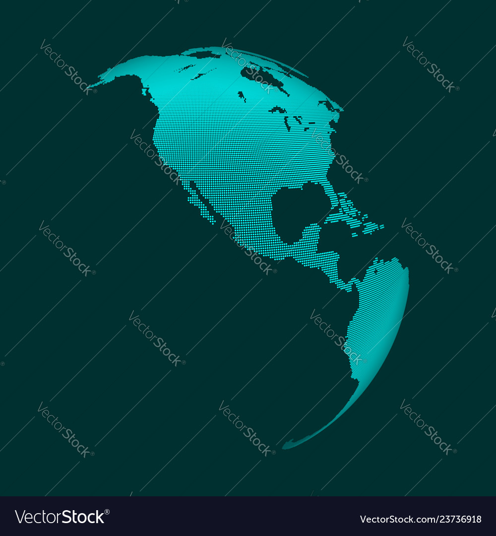 North america earth globe business concept dotted