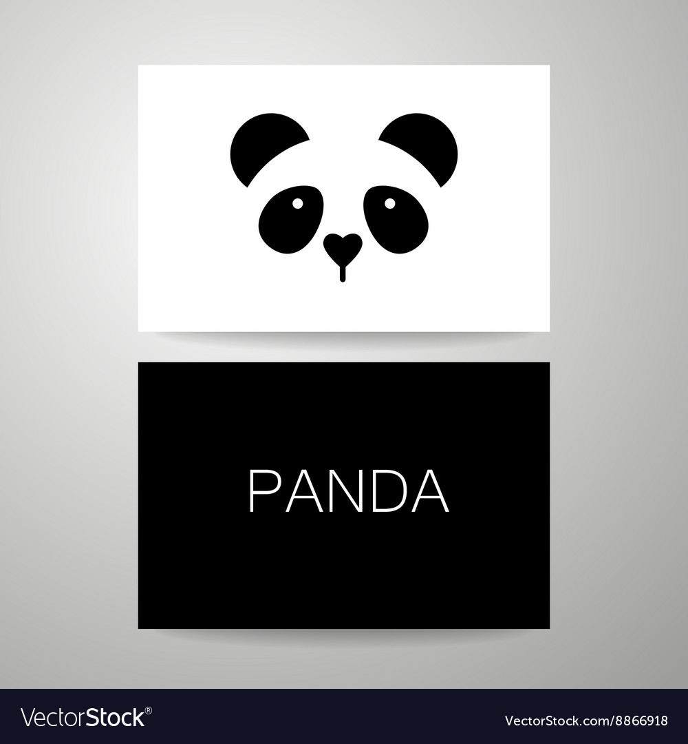 panda bear template royalty free vector image vectorstock