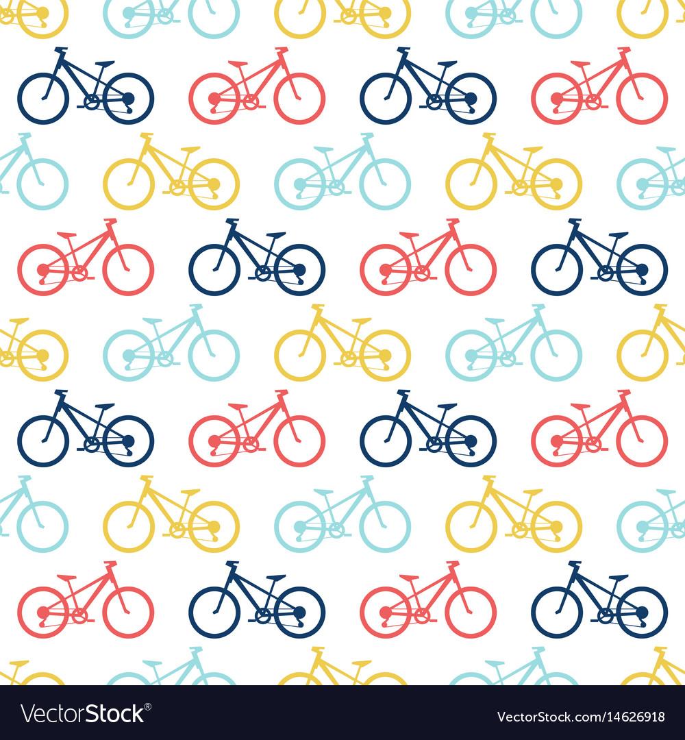 Retro bike seamless pattern