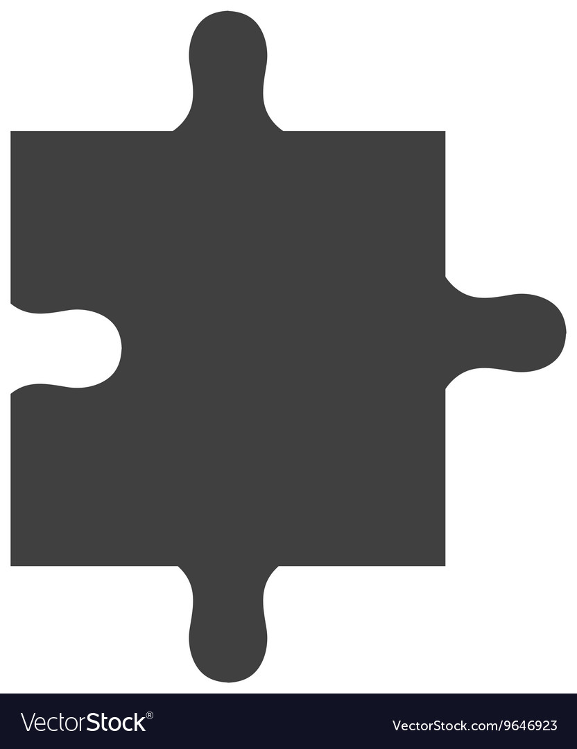 Black puzzle piece graphic