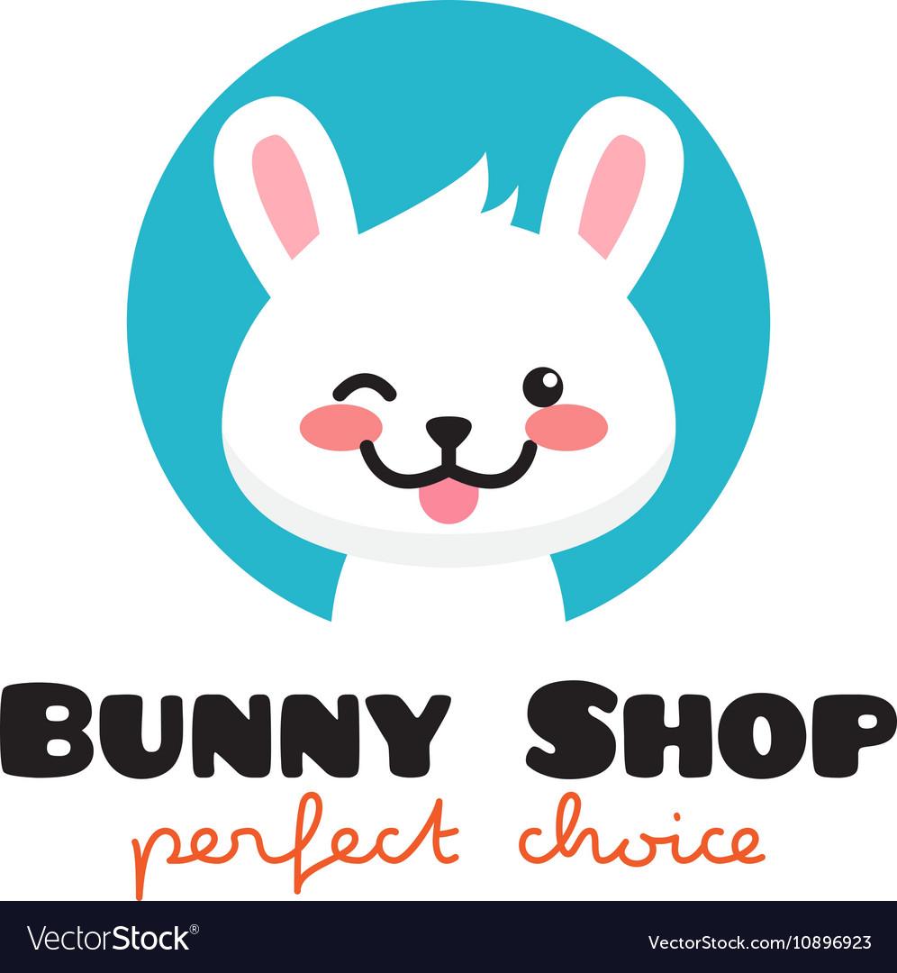 Cartoon rabbit mascot logo