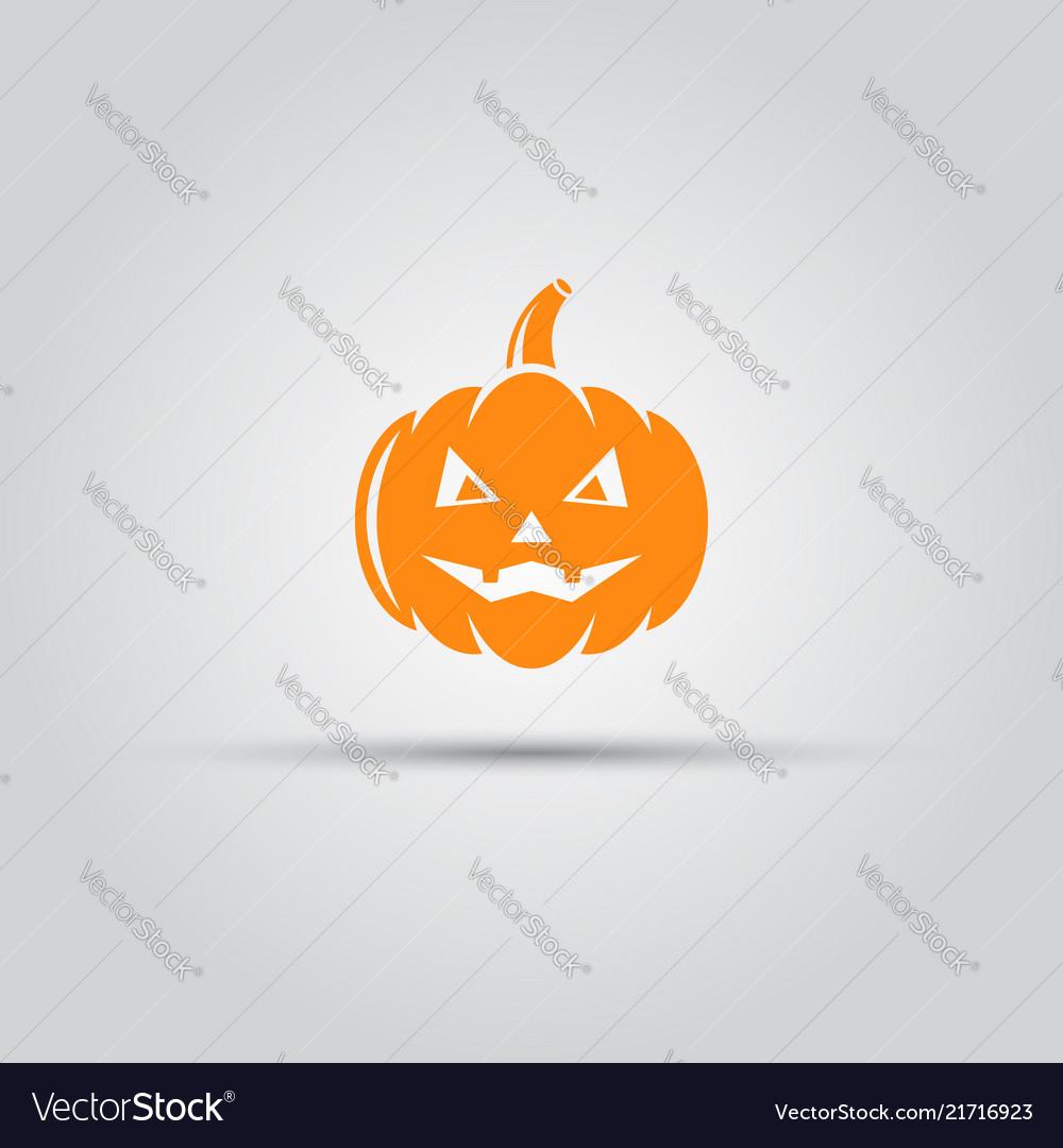 Halloween pumpkin isolated icon