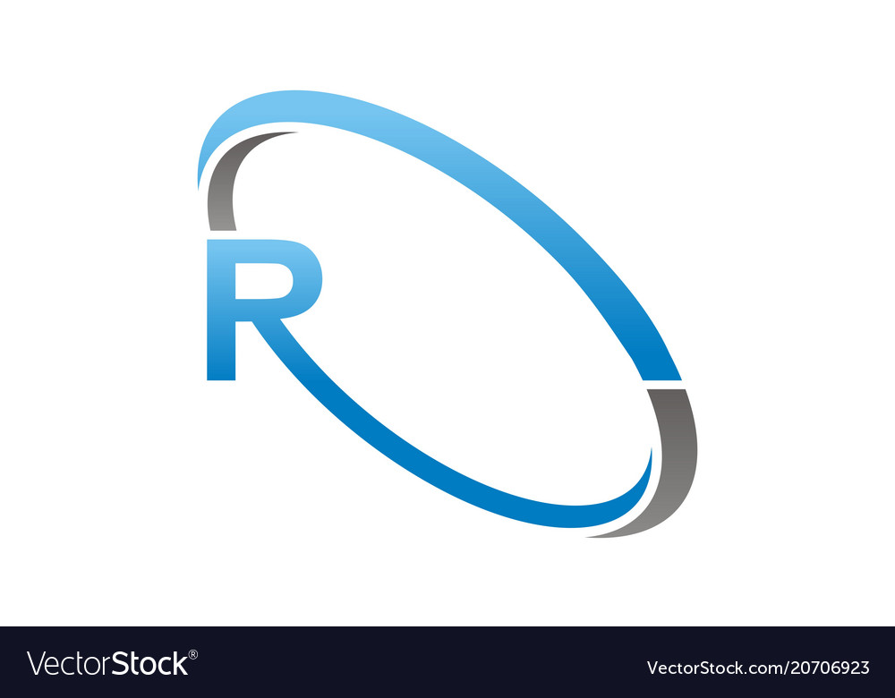 letter r logo design template royalty free vector image