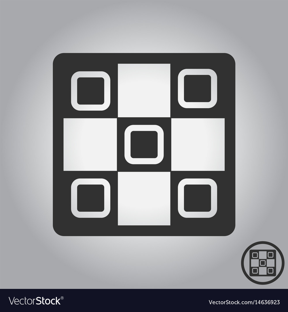 Tic tac toe x o game vector image