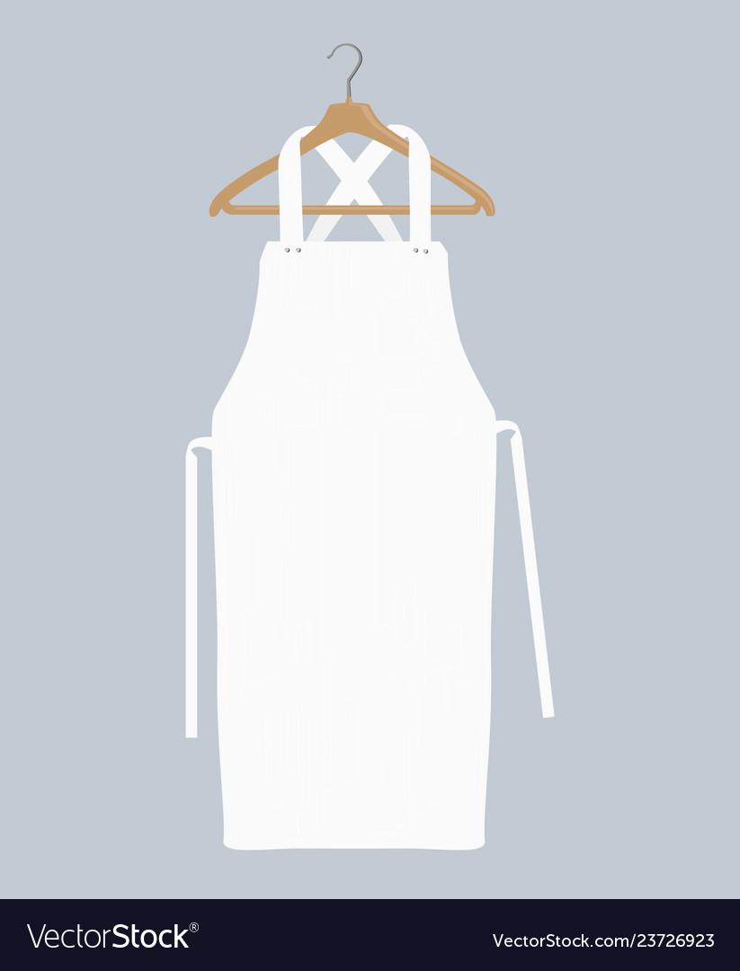 White Kitchen Apron Chef Uniform For Cooking