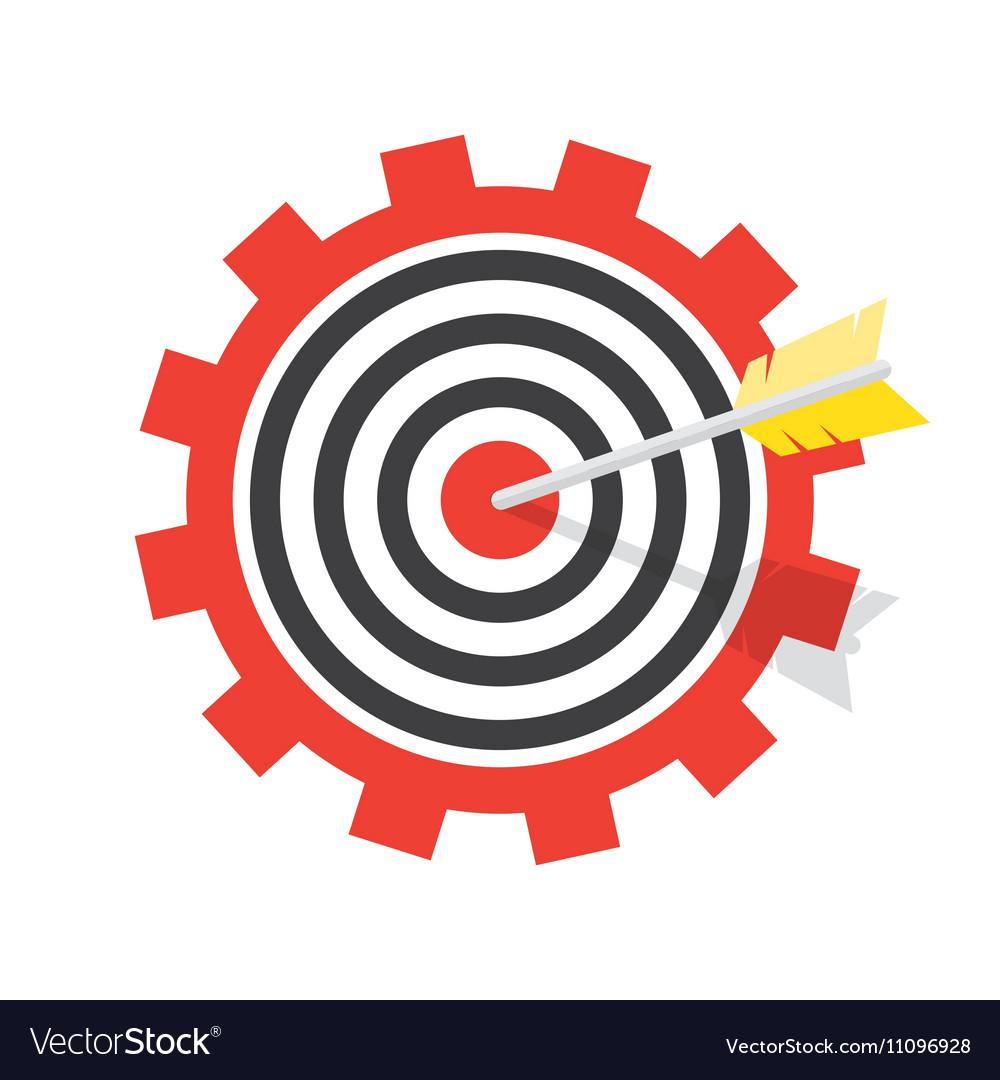 A target with an arrow