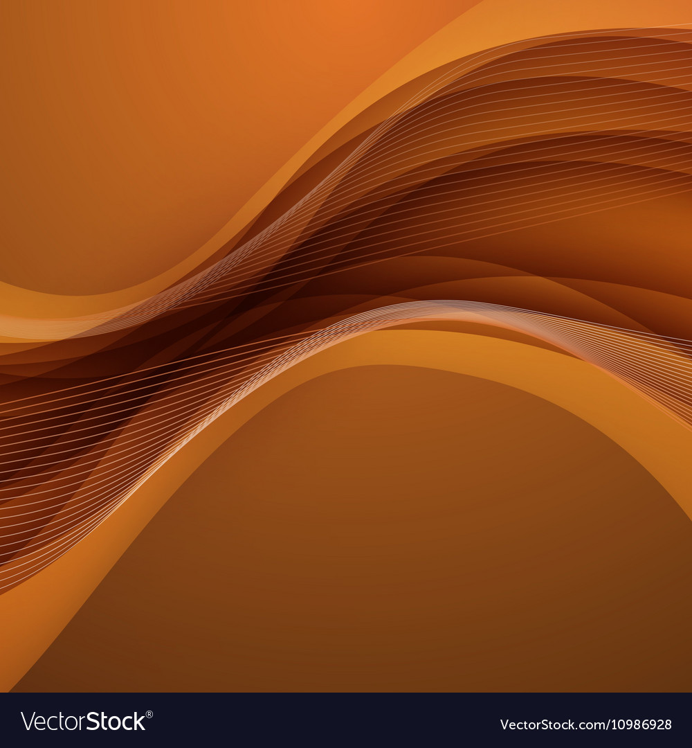 Abstract Brown Background With Wave Royalty Free Vector