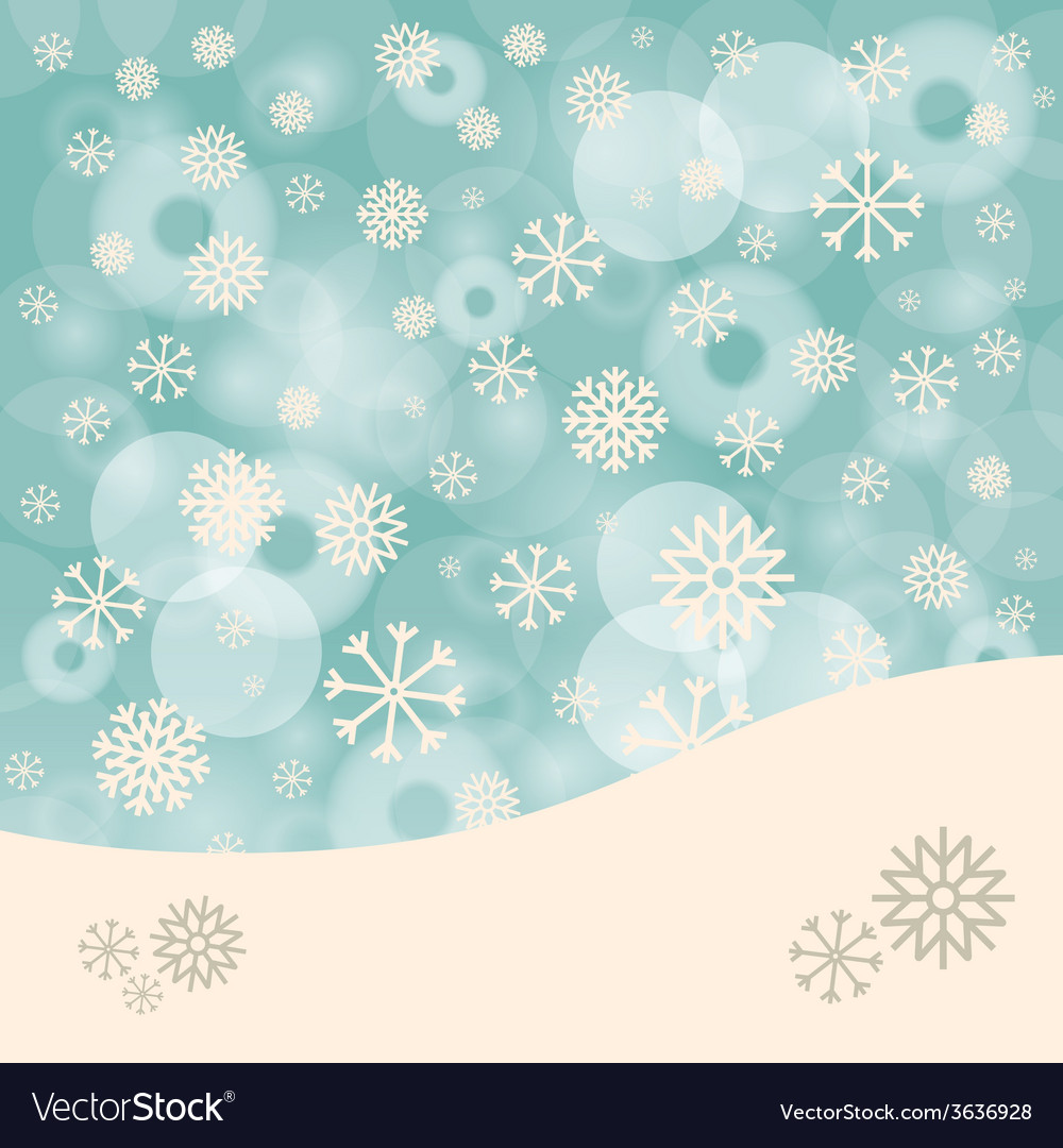 Abstract Winter Background with Snowflakes and