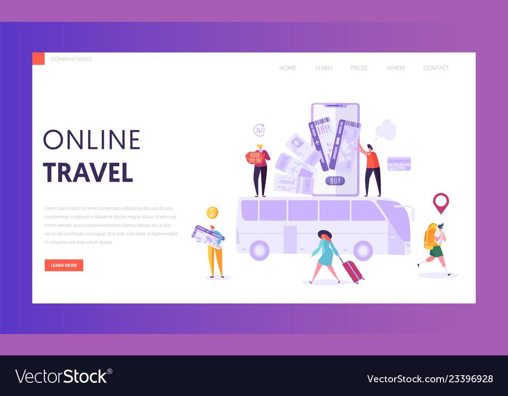 Book vacation flight ticket landing page online