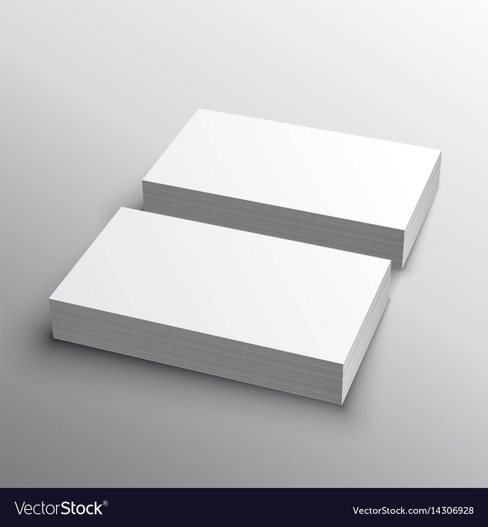 business card mockup presentation for display vector image - Business Card Display