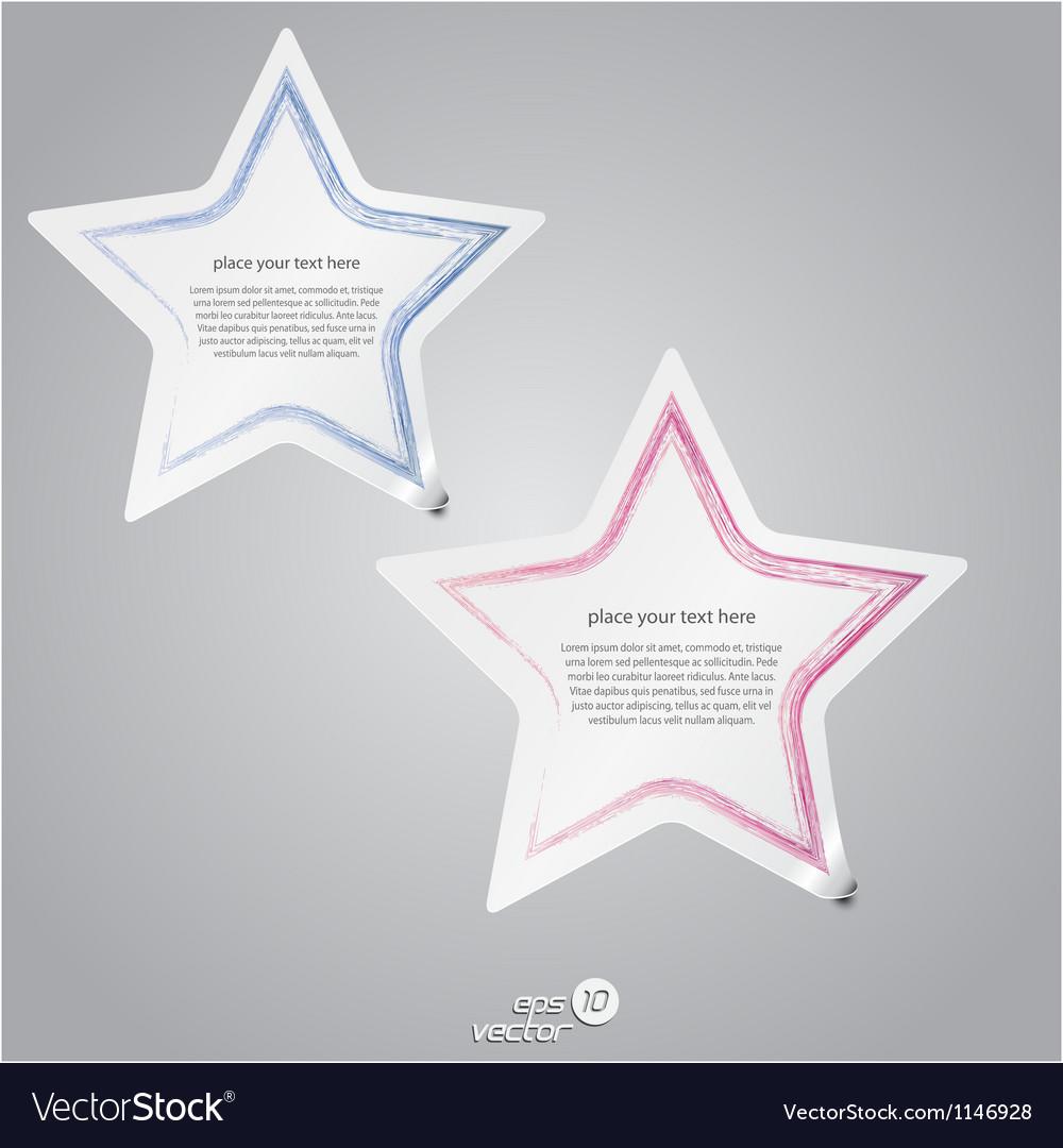 Colorful label stars