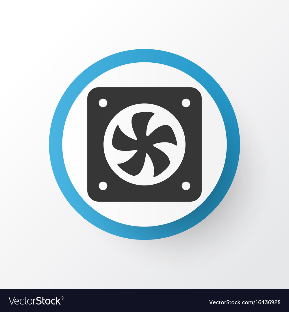 Cpu fan icon symbol premium quality isolated