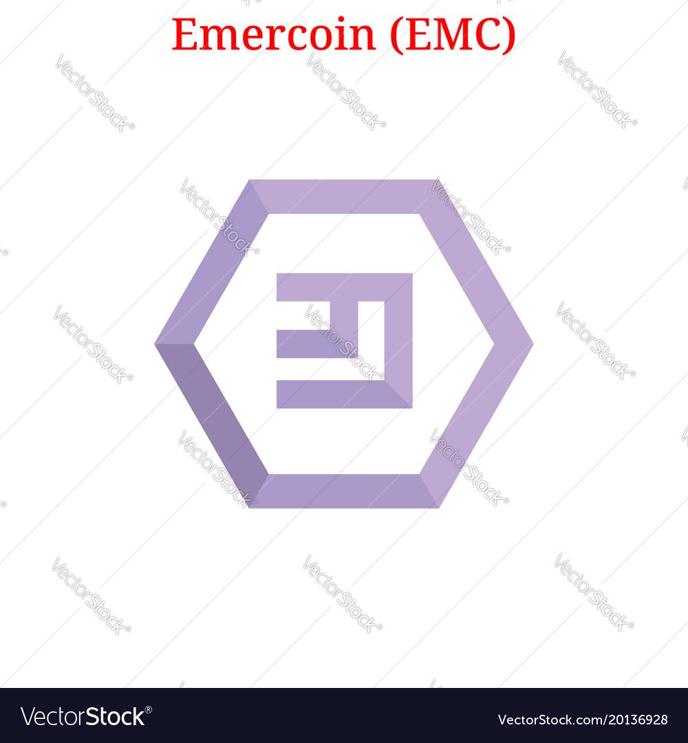 Emercoin Emc Logo Royalty Free Vector Image Vectorstock