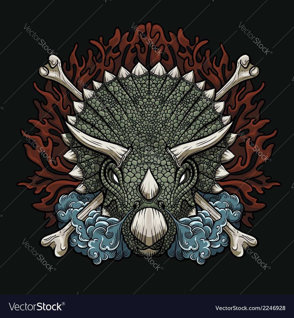 Furious triceratops