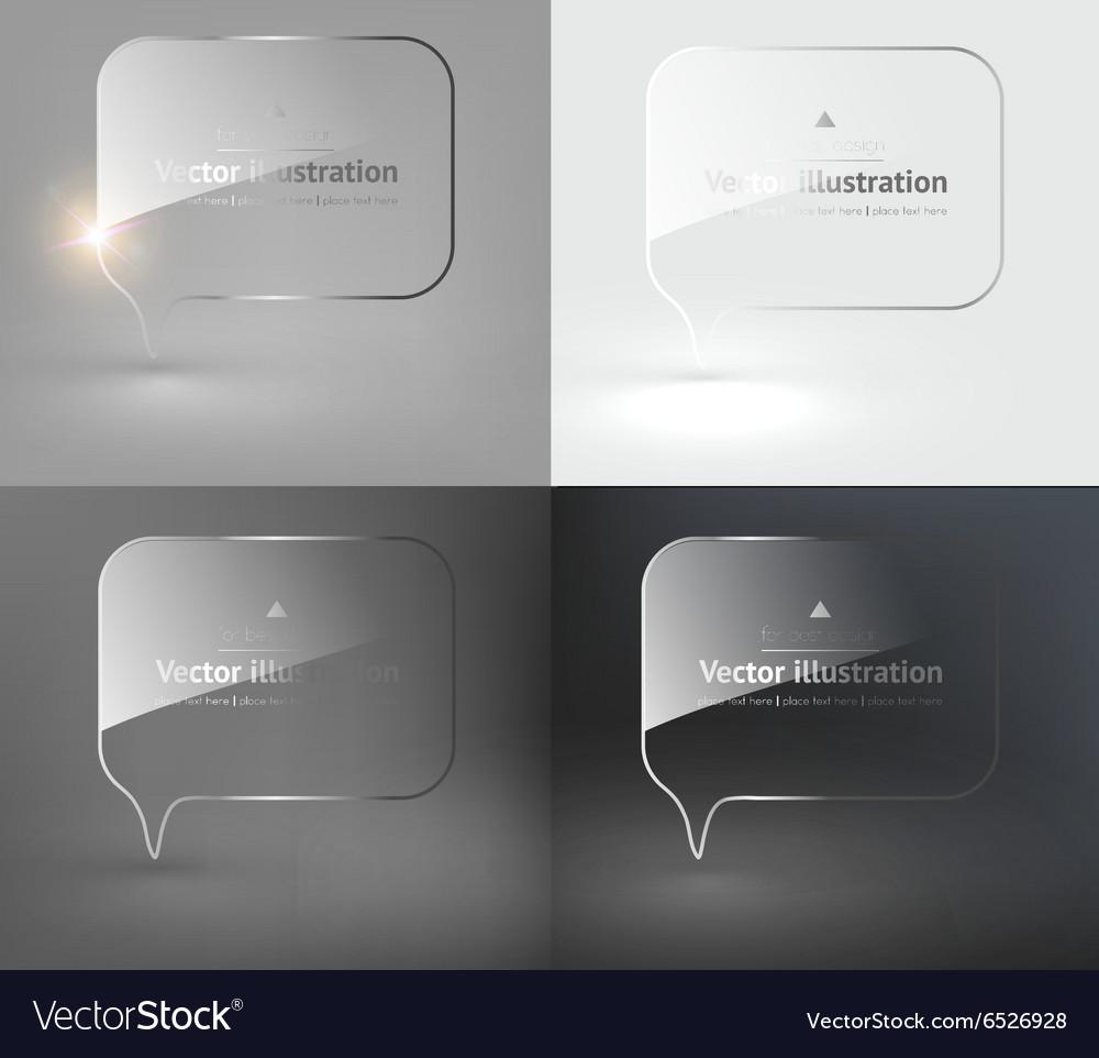 Glass Speech Bubble Design Set