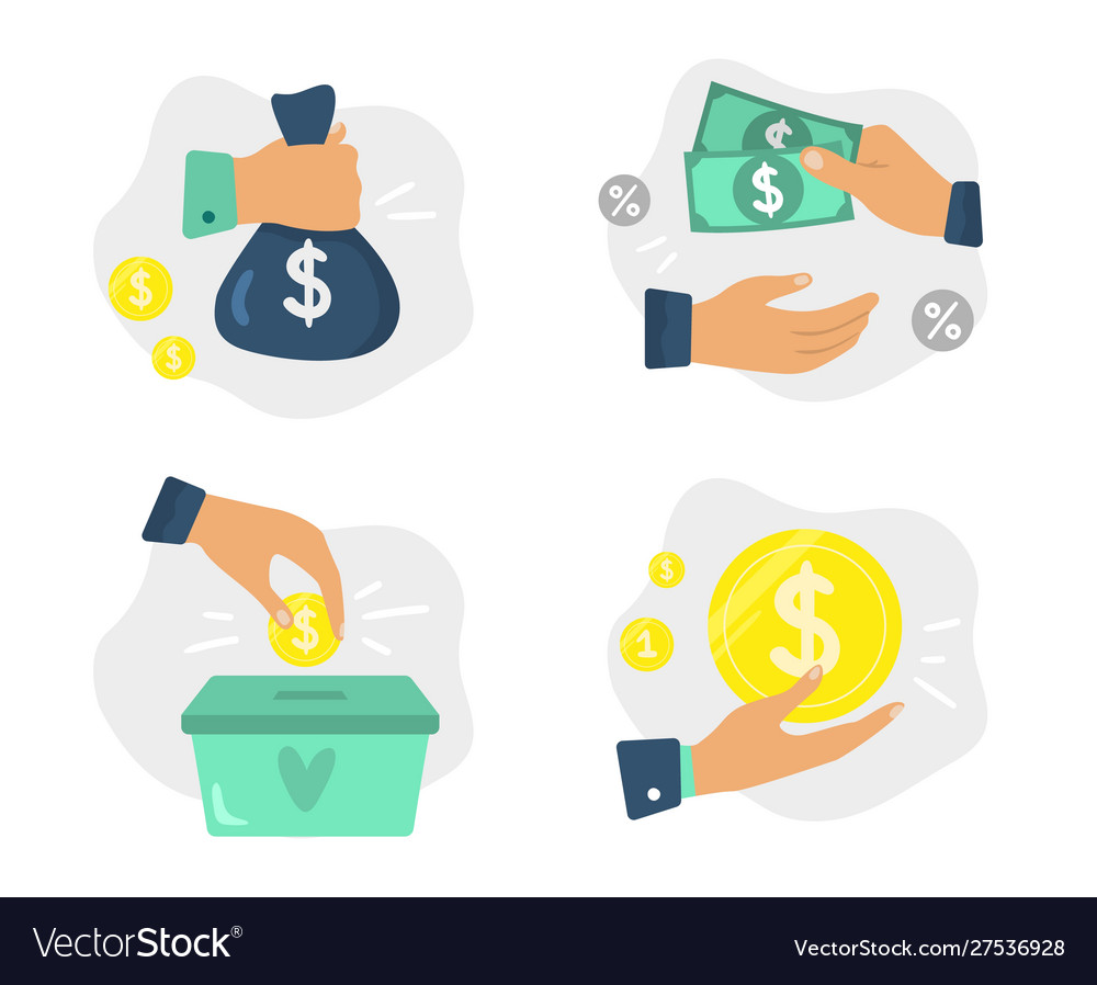 Money in hands finance investments donate