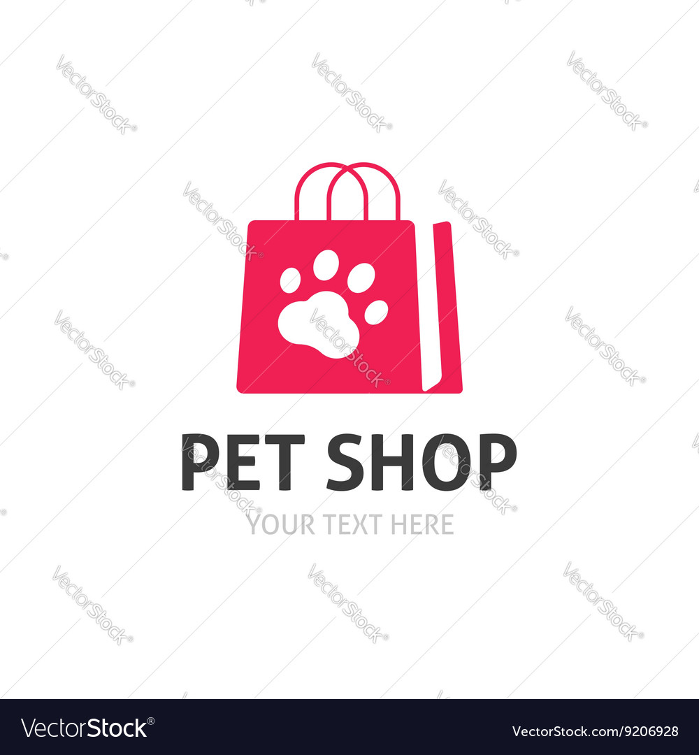 Pet shop logo isolated on white zoo store