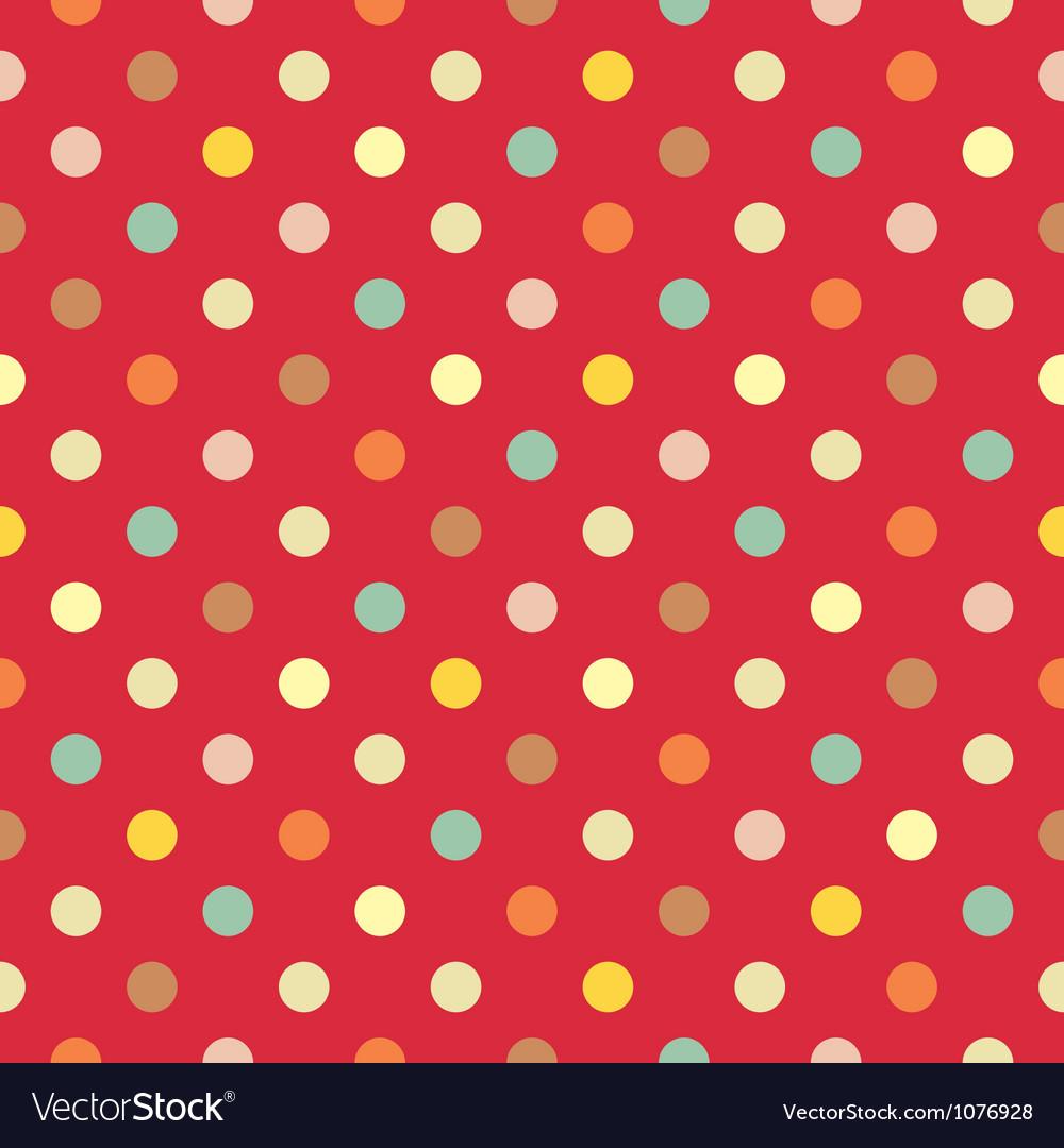 Polka dots seamless pattern vector image