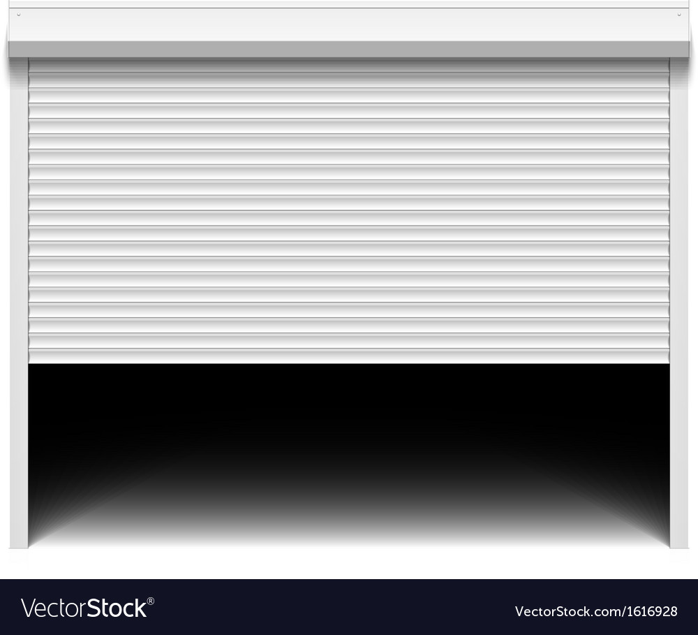 Roller Shutter Garage Door Vector Image