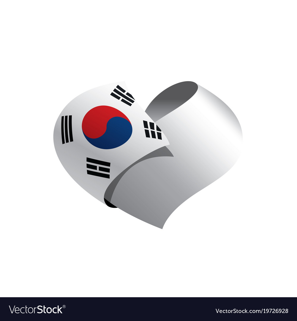 south korean flag royalty free vector image vectorstock