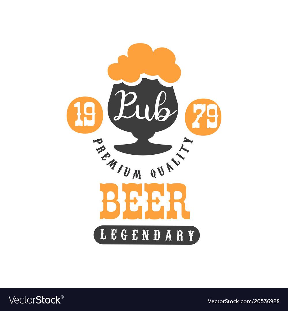 Stylish black and orange logo template with glass