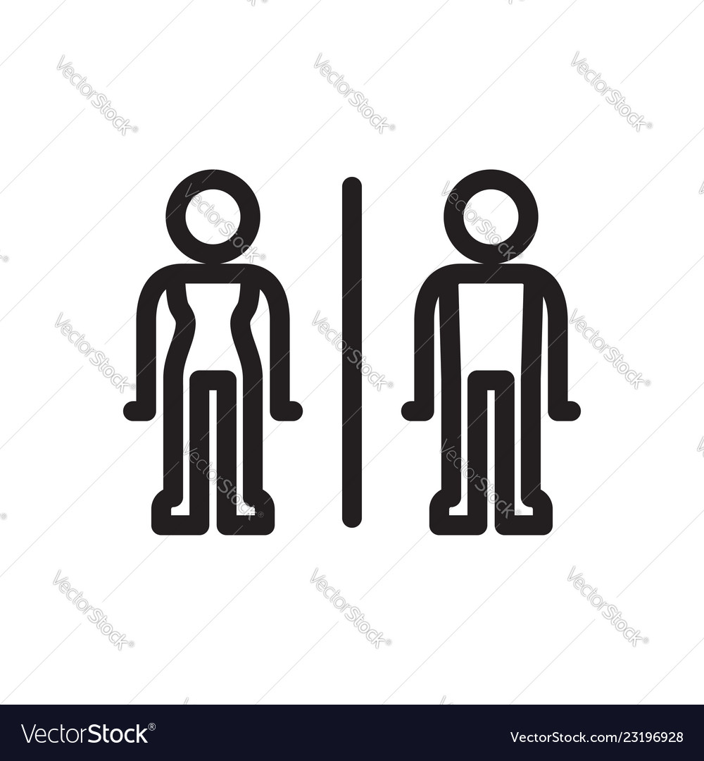 Toilet sign stick man style