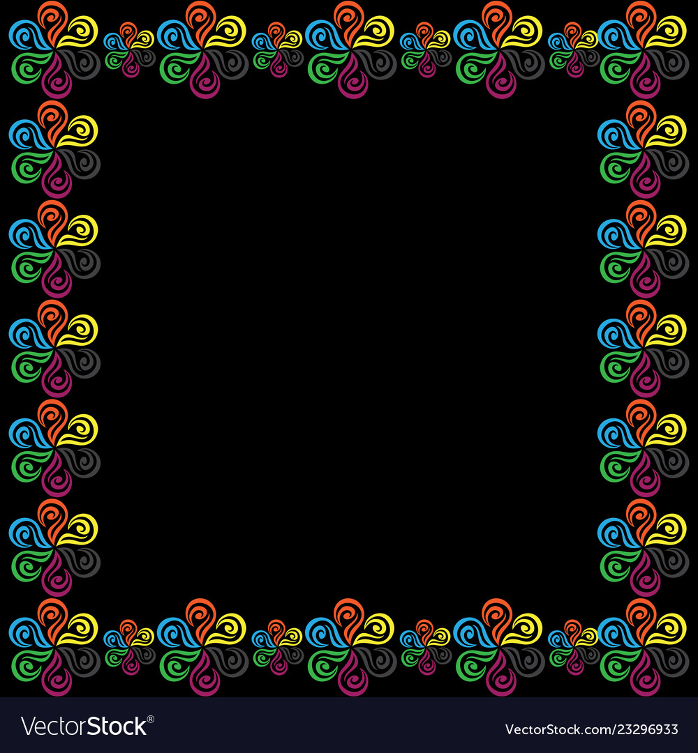 Abstract flower frame background