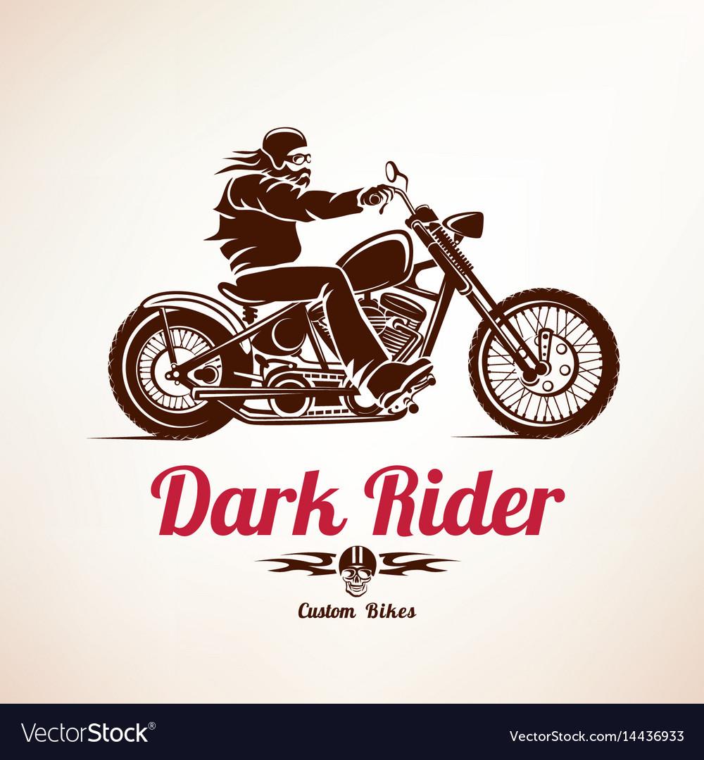 Biker motorcycle grunge silhouette