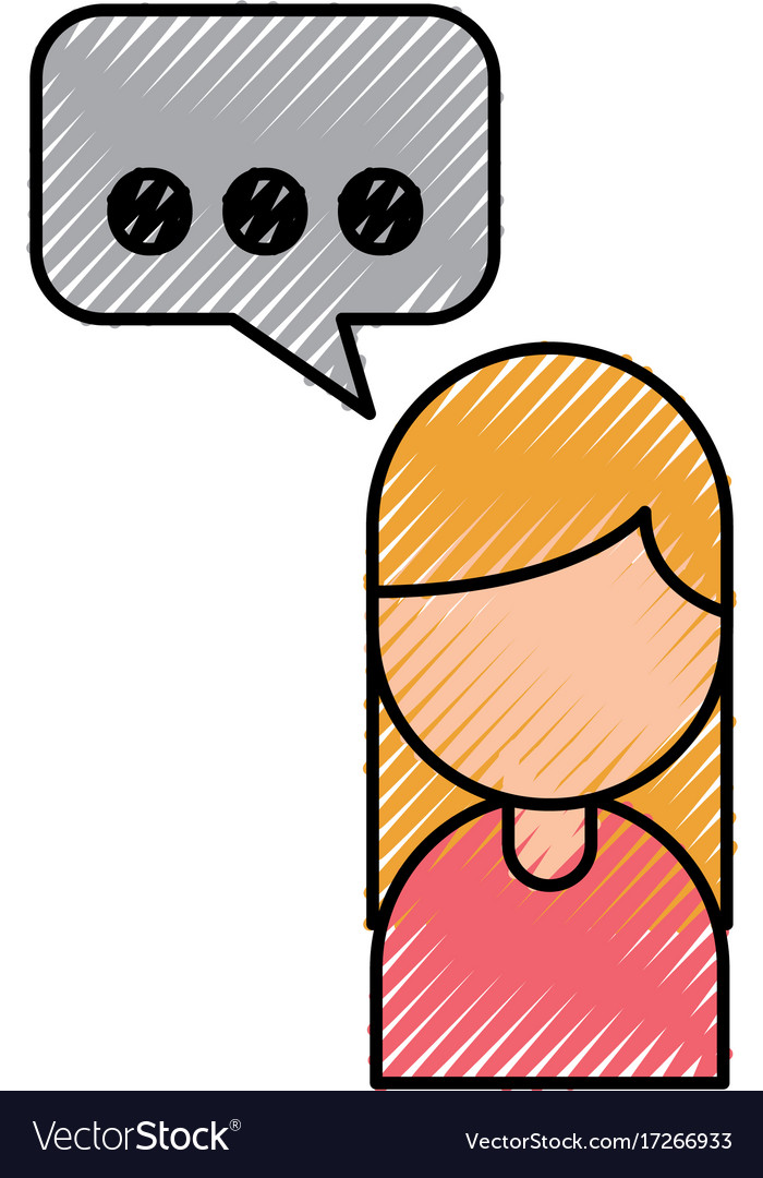 Cartoon Girl Business With Bubble Speak Dialog Vector Image