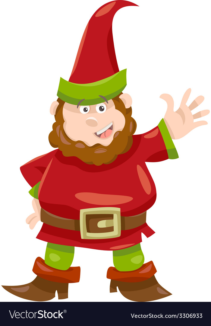 Gnome or dwarf cartoon vector image