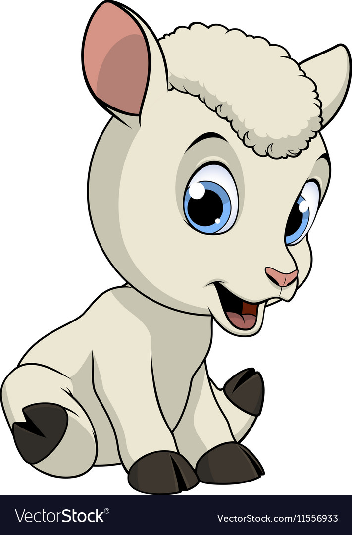 Little funny lamb vector image