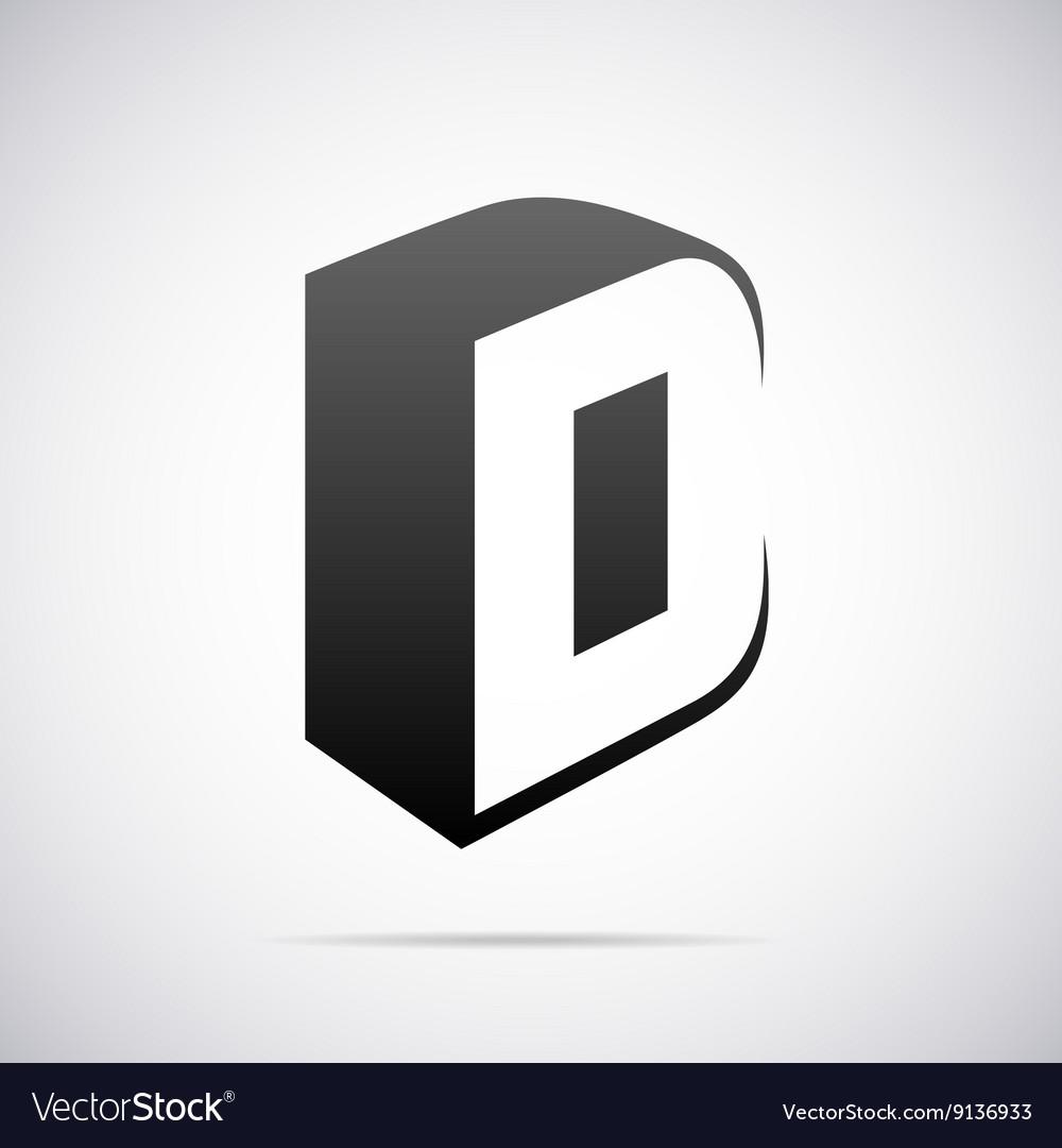 Logo for letter D Design template