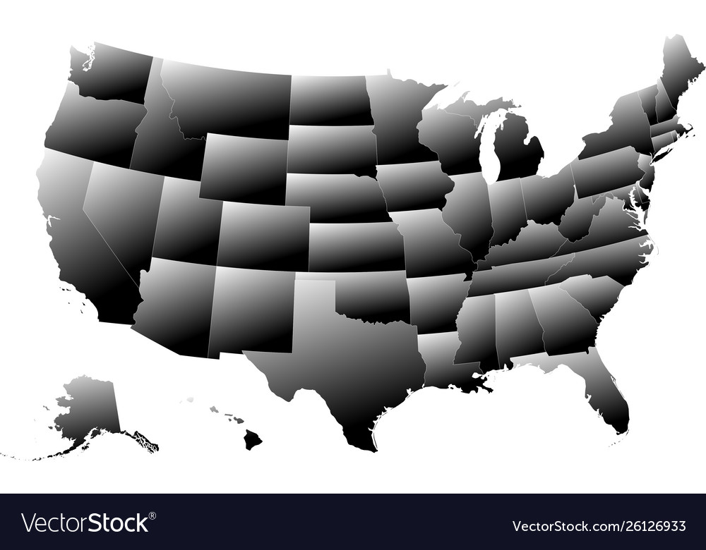 Map Of America 3d Vector.Map United States America 3d Effect