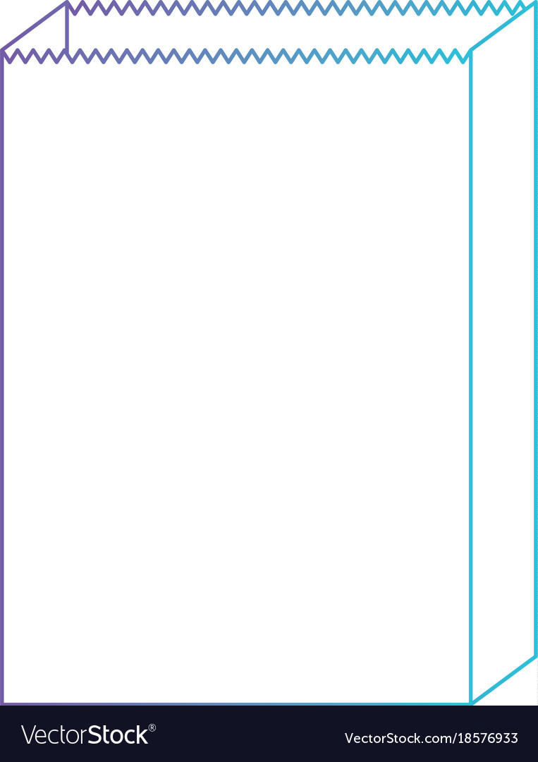Paper bag icon in degraded purple to blue color