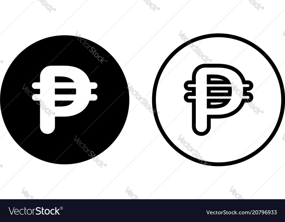 Philippines Peso Currency Symbol Icon Royalty Free Vector