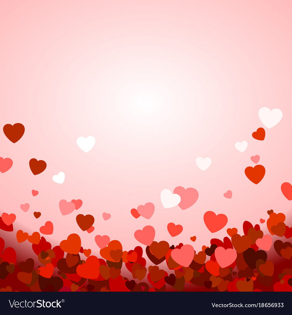 Valentines Day Background With Hearts Royalty Free Vector