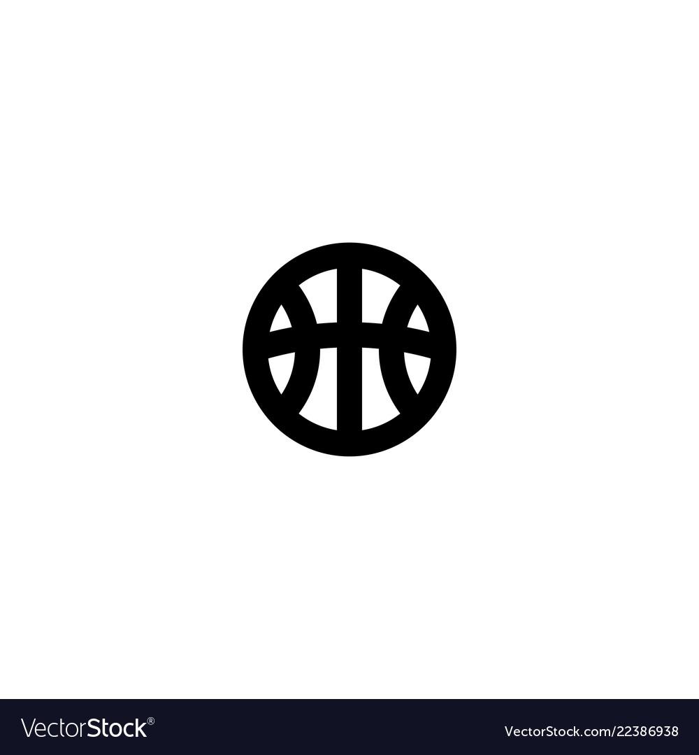 Ball icon symbol sign