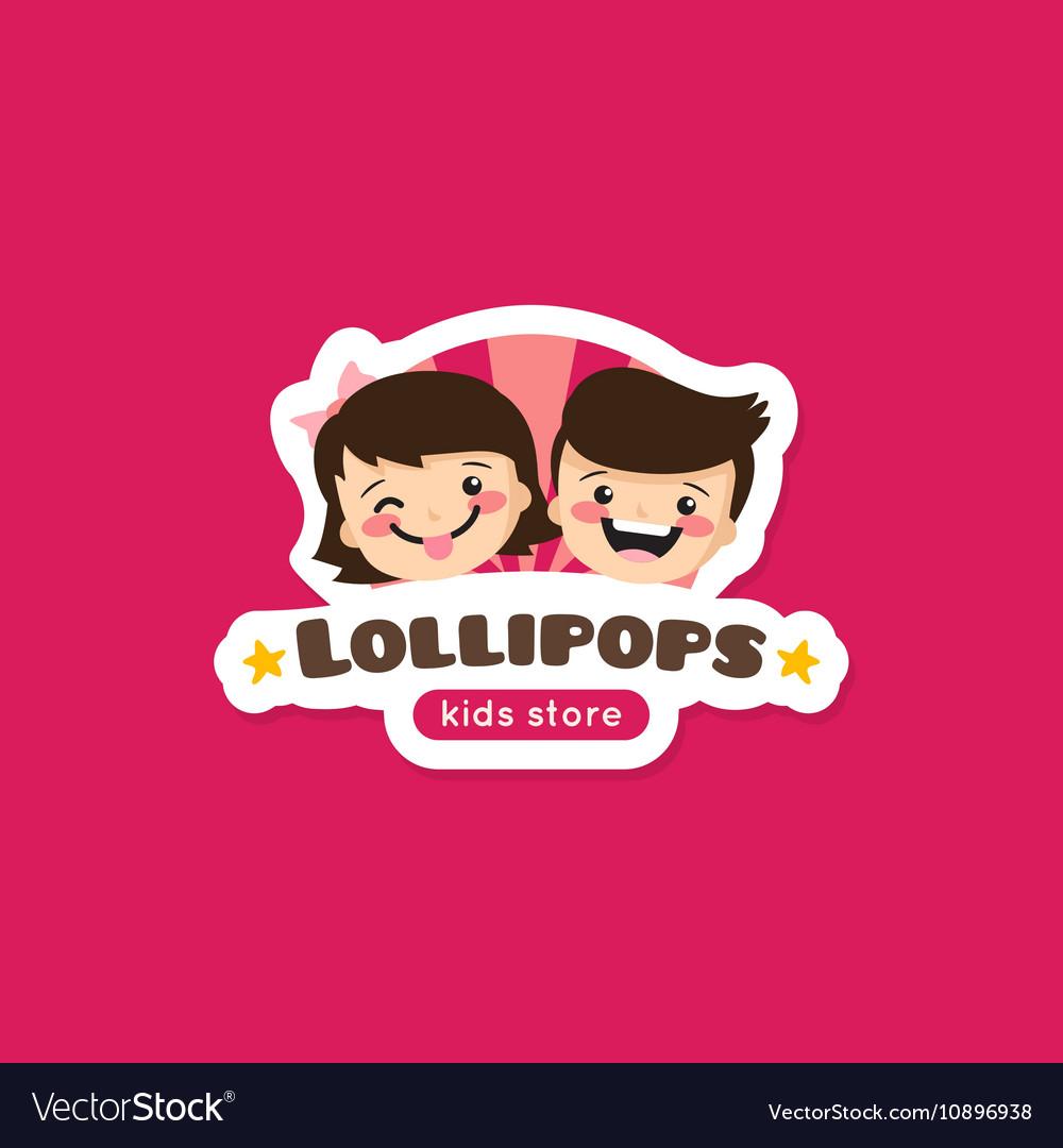 Cartoon lollipops store logo