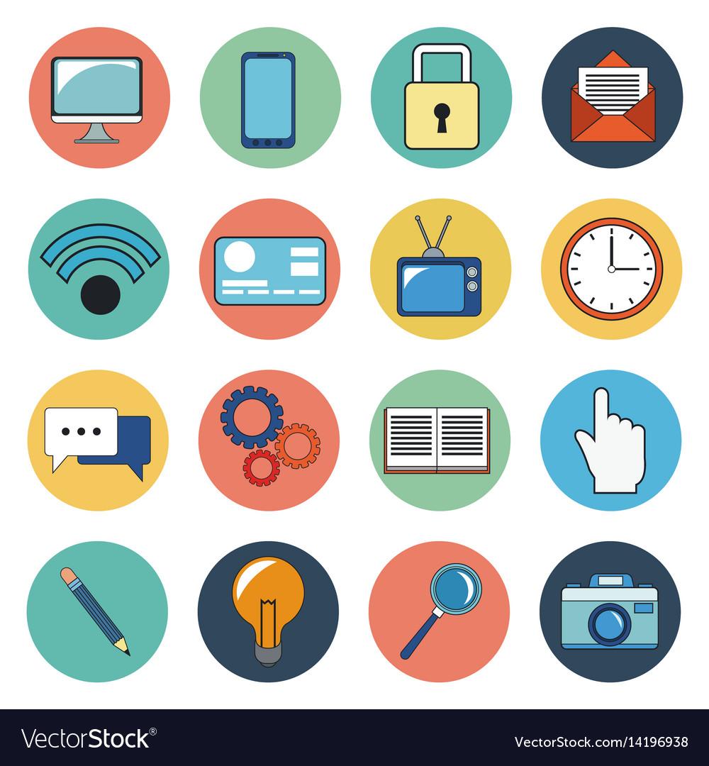 Digital marketing social media icons