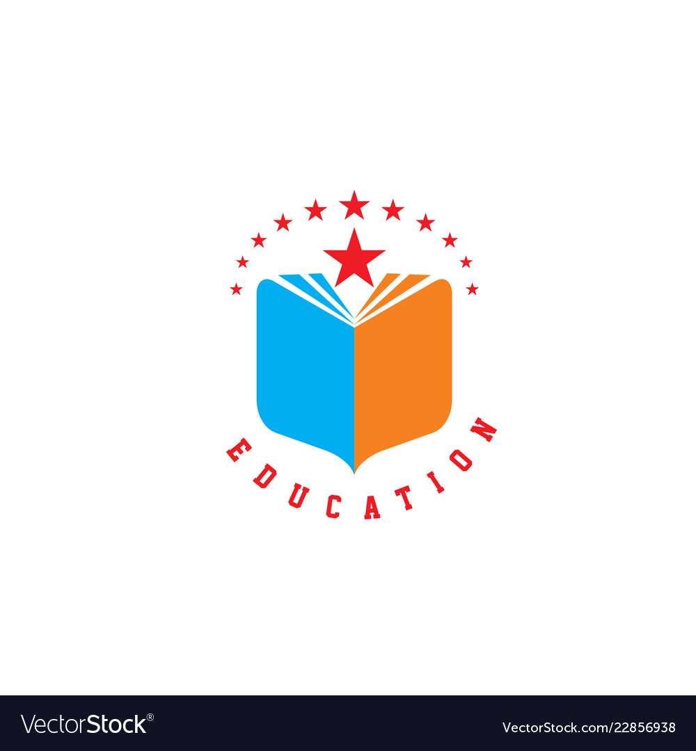 Education book library school logo