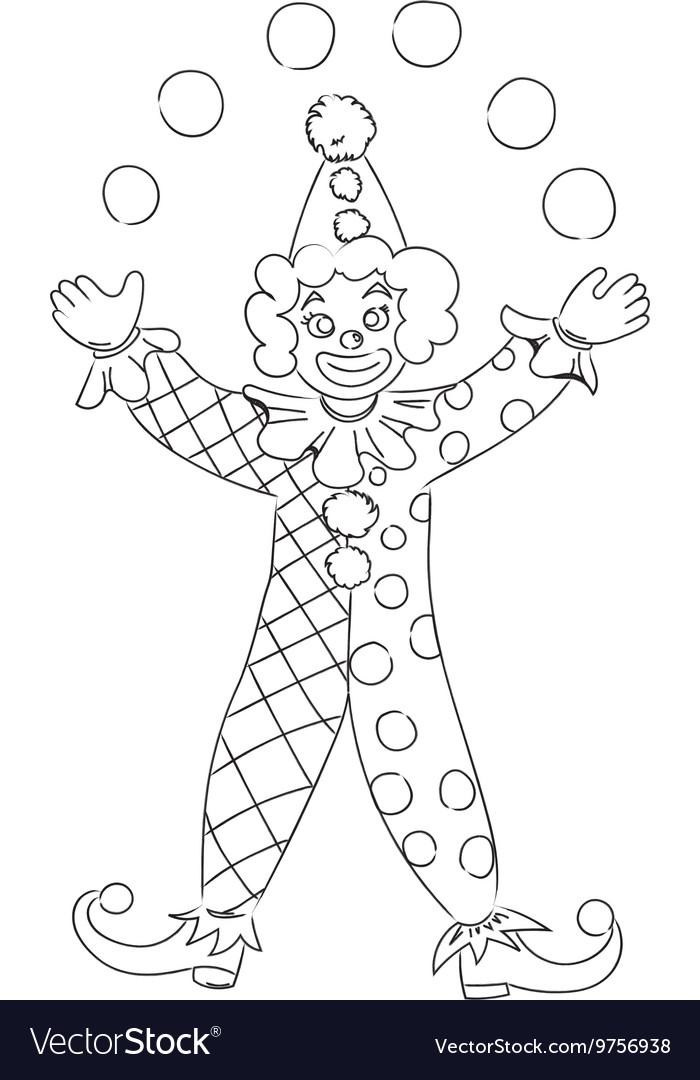 рисунок клоуна карандашом в полный рост удобная