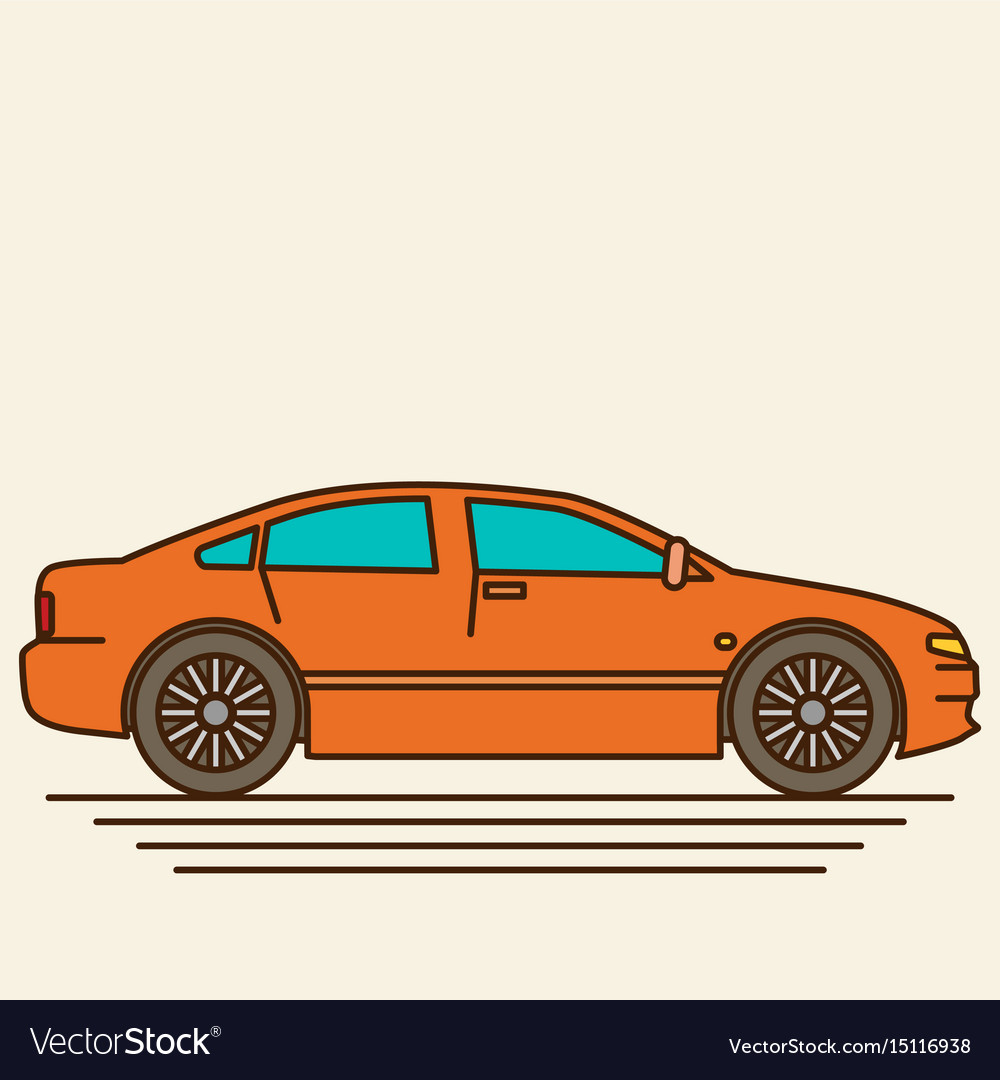 Isolated car flat design style