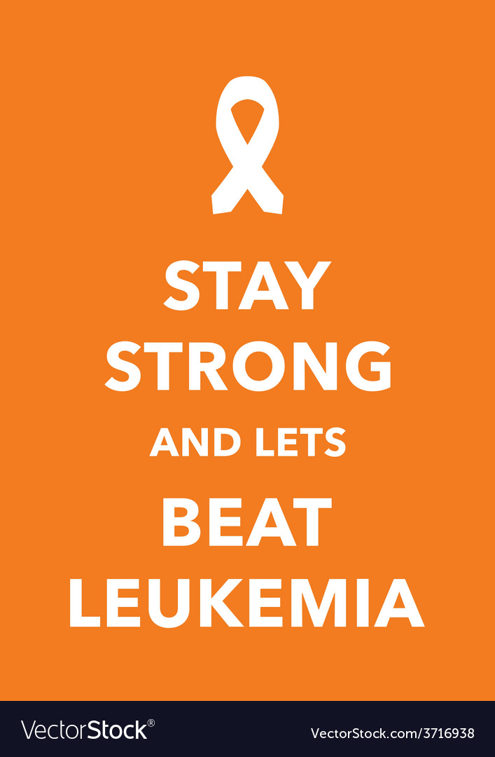 Leukemia poster vector image