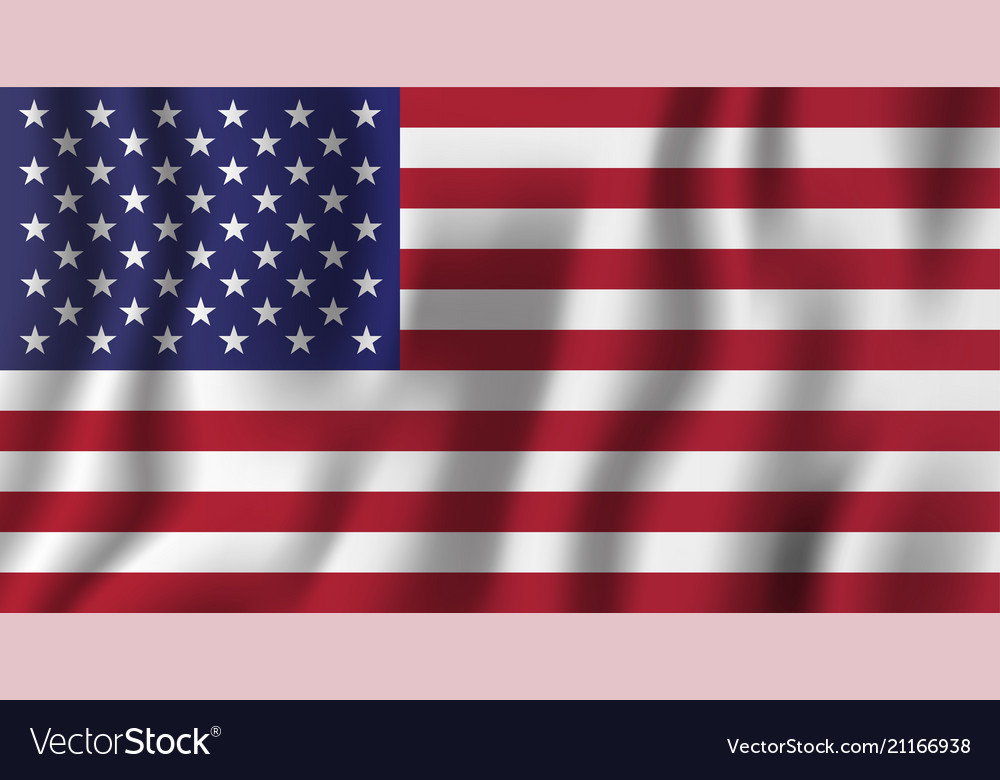 Usa realistic waving flag national country