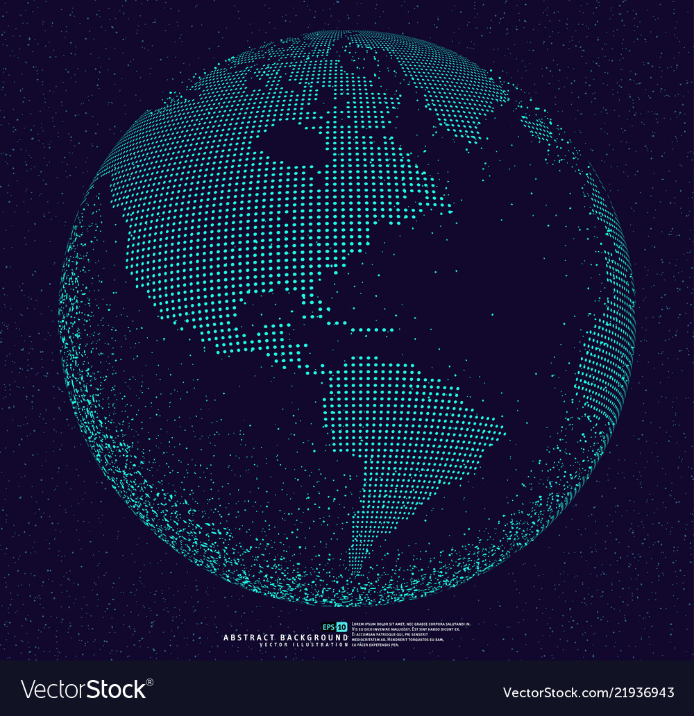 3d dotted globe abstract background