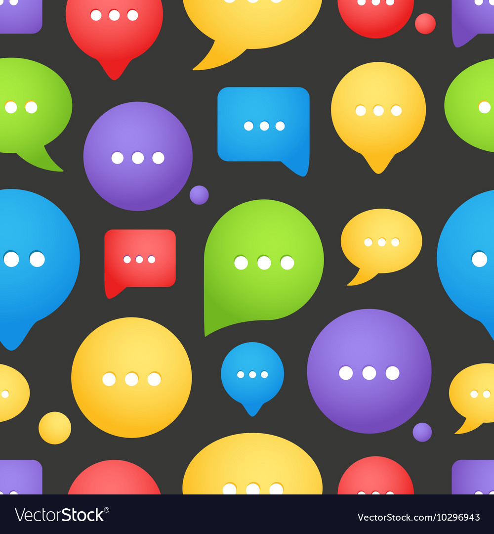 Color speech clouds seamless background