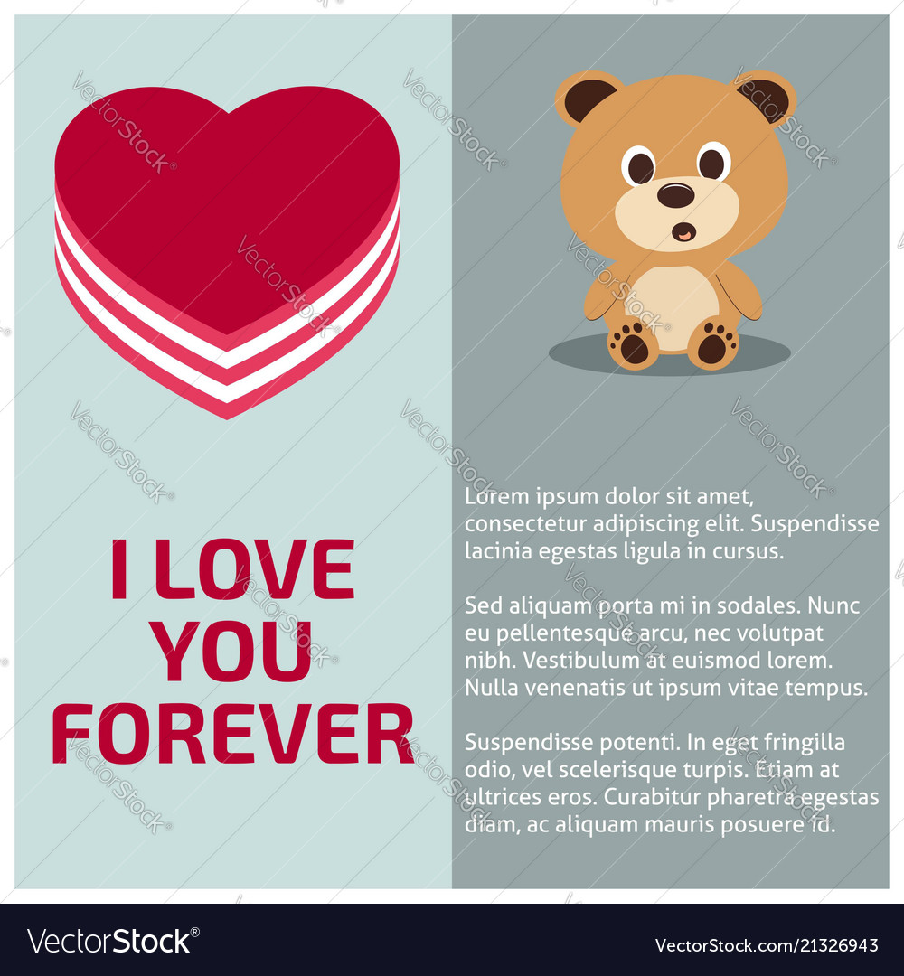 I love you forever card with light background