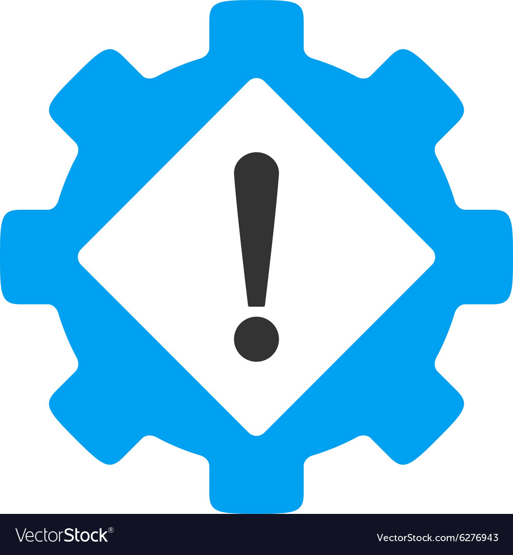 Industry Problem Flat Icon Royalty Free Vector Image