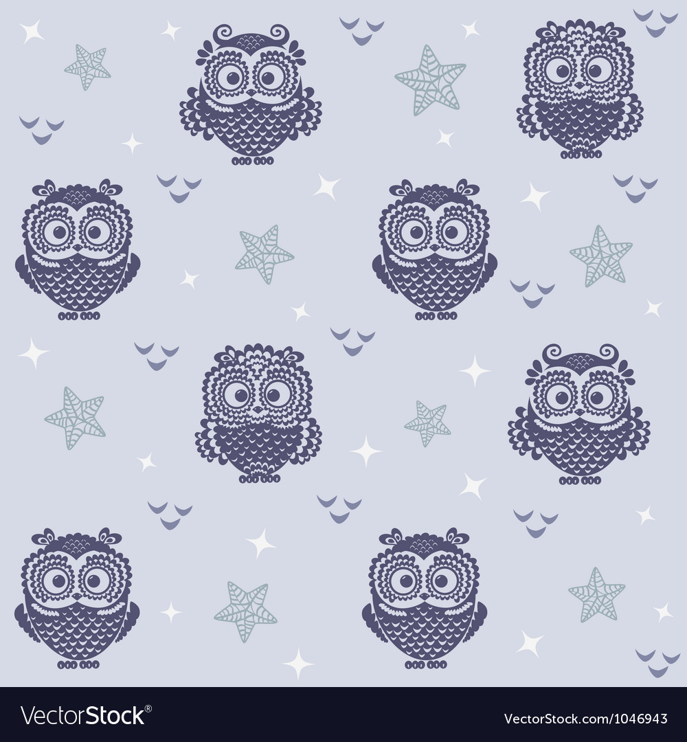 Owl wallpaper 2 vector image